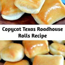 These Copycat Texas Roadhouse Rolls are brushed with sweet honey butter and can be made in a bread machine or by hand! A perfect side dish idea for holidays and family dinners! #rolls #easy #texasroadhouse #bread #sidedish #sides #copycatrecipes #copycatrecipe