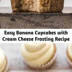 This super delicious Banana Cupcakes with Cream Cheese Frosting recipe is very easy to make. Made from scratch with fresh bananas. Soft, moist, and creamy. #cupcakes #creamcheese #frosting #banana #bananacupcakes #creamcheesefrosting #baking #recipeoftheday